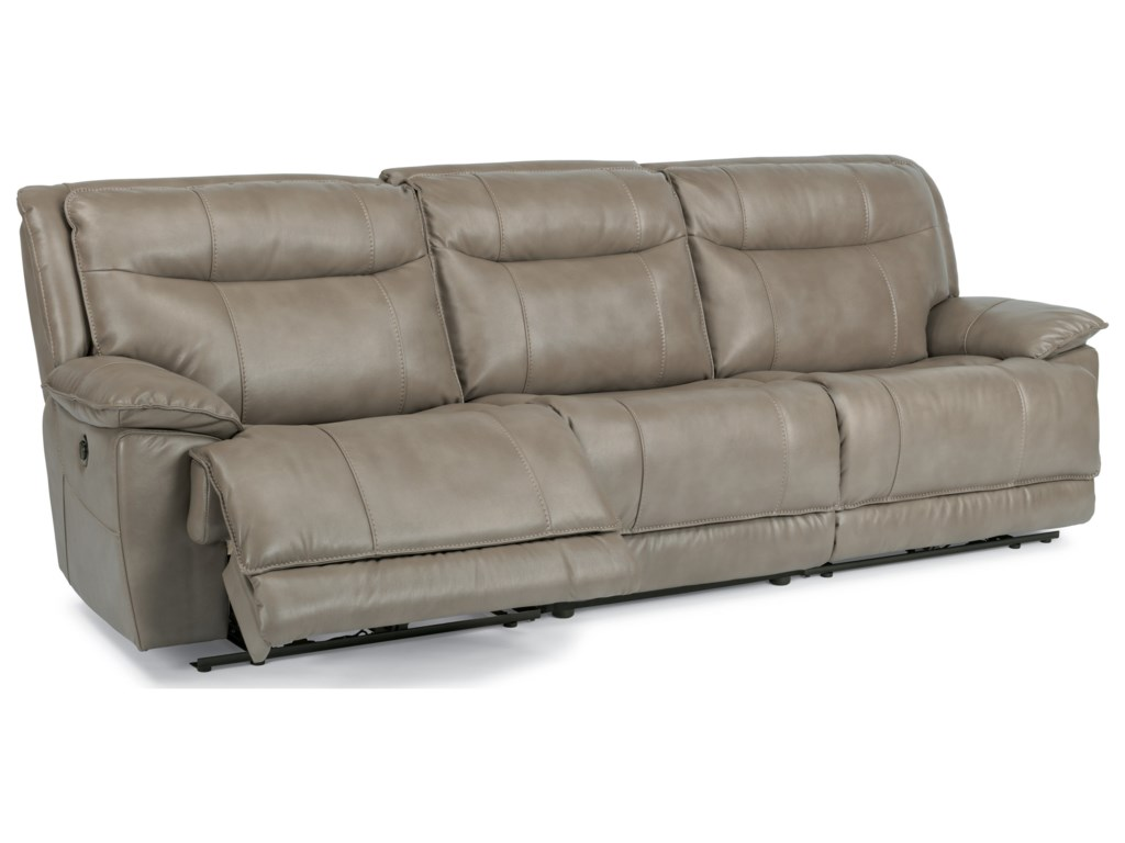 Flexsteel LatitudesBliss Three Piece Power Reclining Sectional - Flexsteel sofa leather