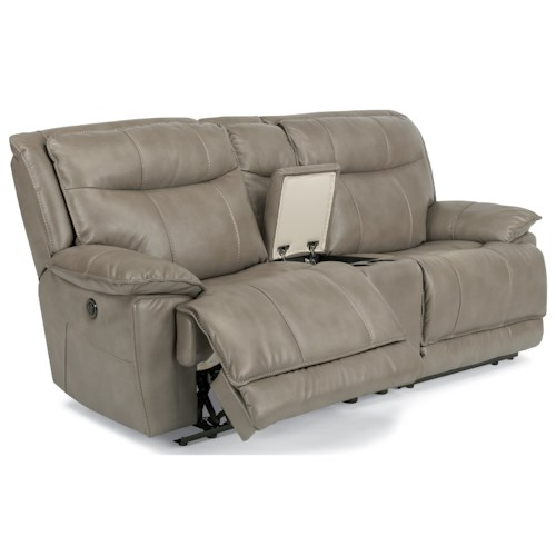 Flexsteel Latitudes-Bliss Power Reclining Loveseat with Cupholders and USB Charging Ports