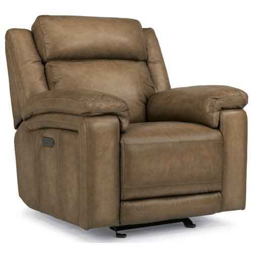Flexsteel Latitudes-Brody Power Gliding Recliner with Power Headrest and USB Ports