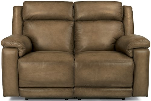 Flexsteel Latitudes-Brody Power Reclining Love Seat with Power Headrest and USB Ports