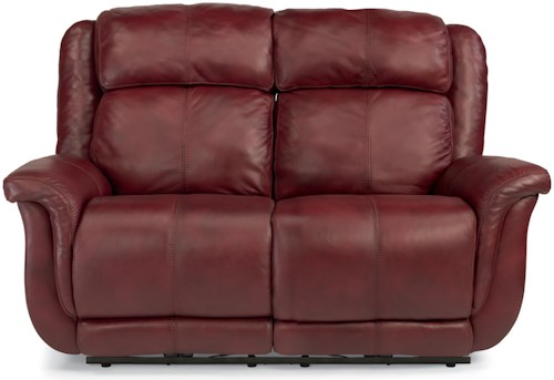 Flexsteel Latitudes-Brookings Casual Power Reclining Loveseat with USB Ports