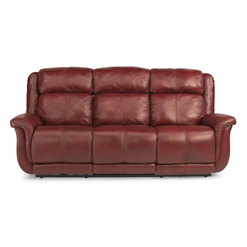 Flexsteel Sofa Locations: Flexsteel Latitudes-Brookings Casual Power Reclining Sofa