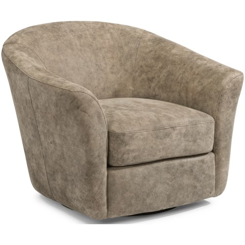Flexsteel Latitudes-Carly Contemporary Leather Swivel Chair
