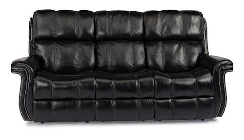 Flexsteel Latitudes - Challenger Power Lay-Flat Reclining Sofa with USB Charging Ports
