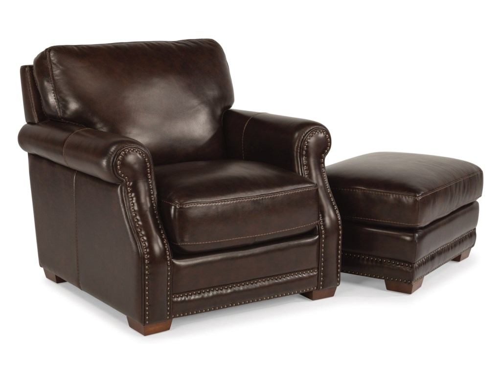 Flexsteel Latitudes-ChandlerChair and Ottoman Set
