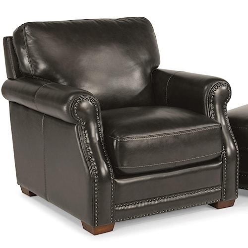 Flexsteel Latitudes-Chandler Transitional Chair with Nailhead Trim