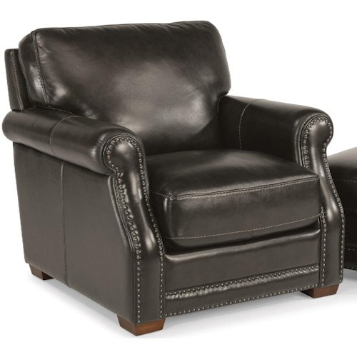Flexsteel Latitudes-Chandler Transitional Chair with Nailhead Trim