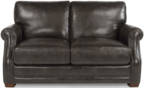 Flexsteel Latitudes-Chandler Transitional Love Seat with Nailhead Trim