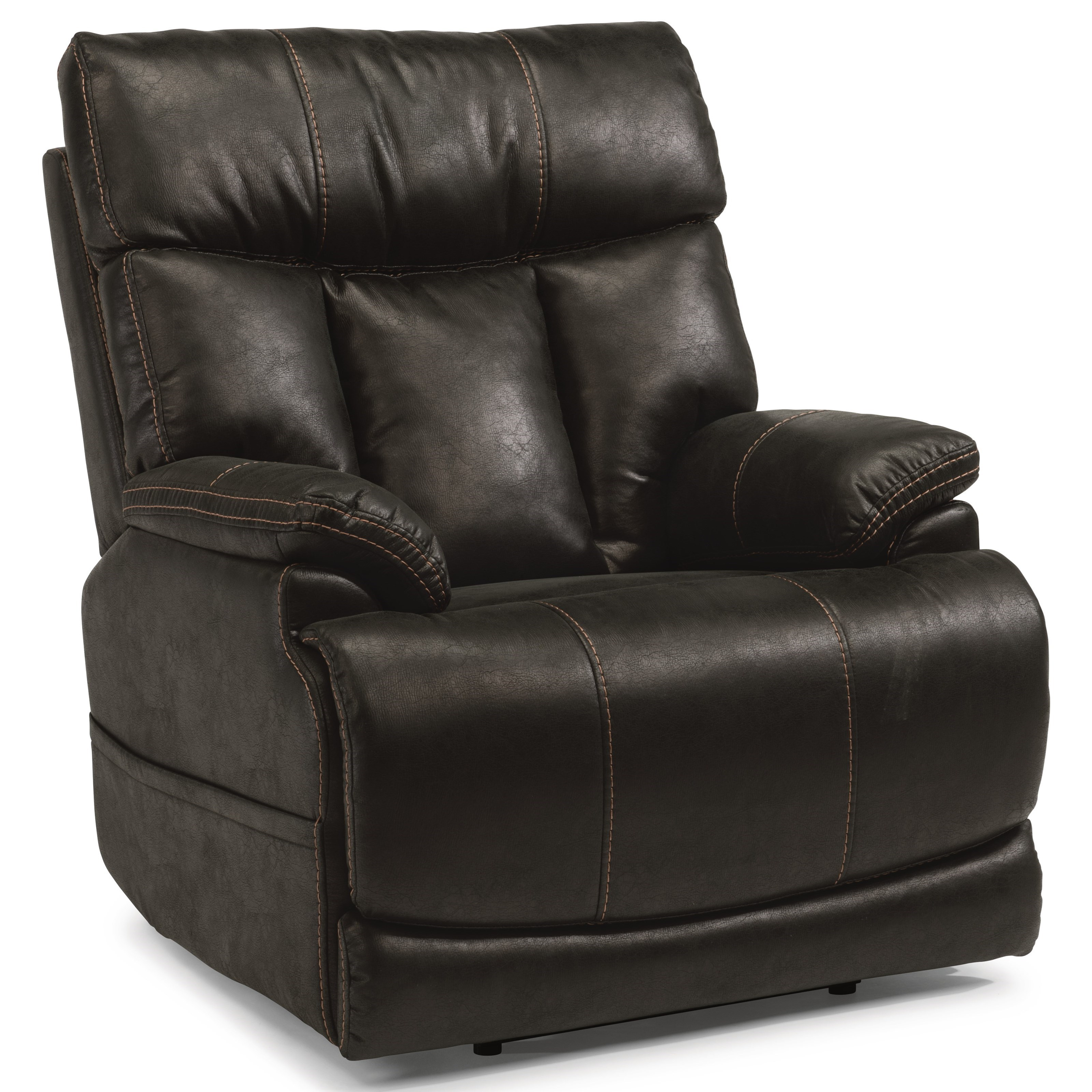 shown in flexsteel power recliner with power headrest and adjustable lumbar - Power Recliner