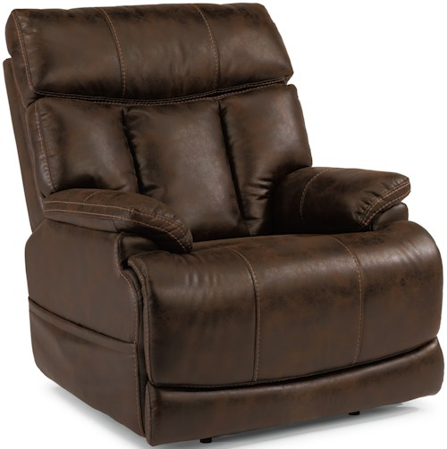 Flexsteel Latitudes-Clive Power Recliner with Power Headrest and Adjustable Lumbar