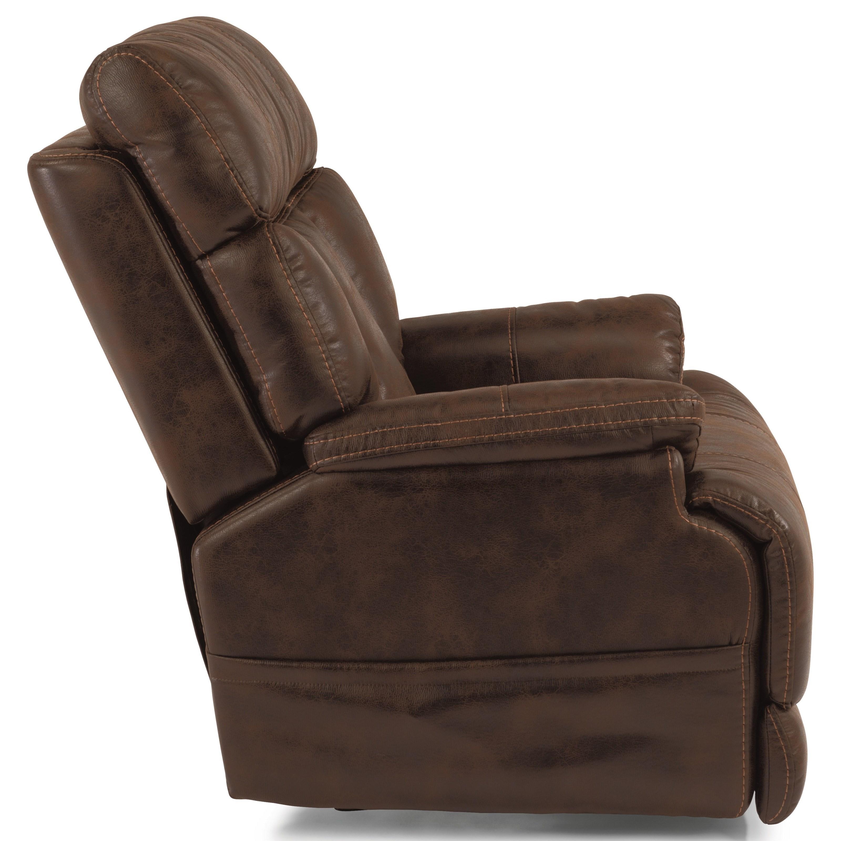 shown in flexsteel power recliner with power headrest and adjustable lumbar