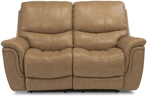 Flexsteel Latitudes-Coco Casual Power Reclining Loveseat with USB Ports