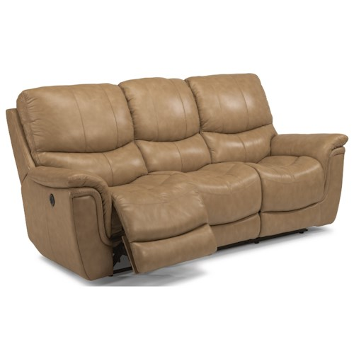 Flexsteel Latitudes-Coco Casual Power Reclining Sofa with USB Ports