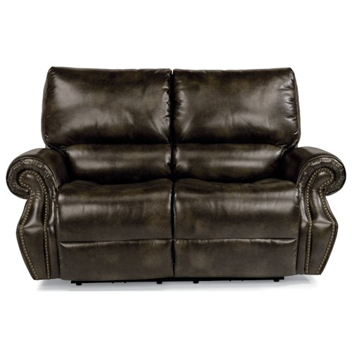 Flexsteel Latitudes-Colton Power Reclining Loveseat with Power Tilt Headrests and USB Ports