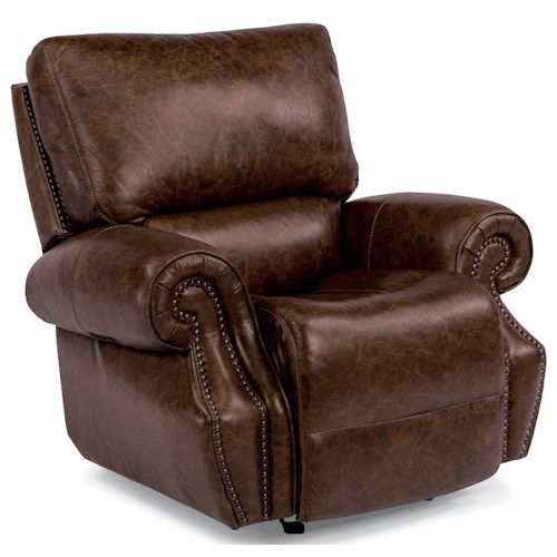 Flexsteel Latitudes-Colton Power Glider Recliner with Power Tilt Headrest and USB Port
