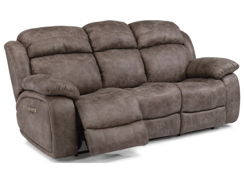 Flexsteel Latitudes-ComoPower Reclining Sofa with Power Headrest