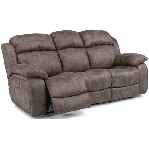 Flexsteel Latitudes-Como Power Reclining Sofa with Power Headrest and USB Port