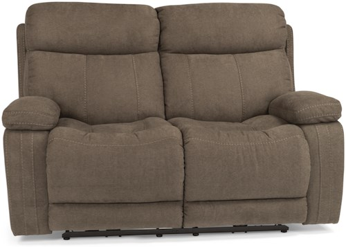 Flexsteel Latitudes-Danika Casual Power Reclining Loveseat with Contrast Topstitching
