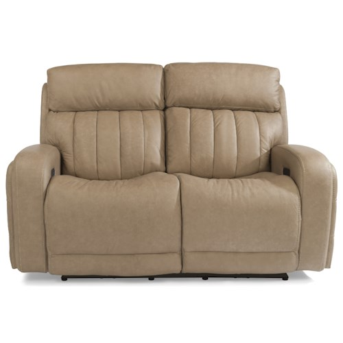 Flexsteel Latitudes-Danvers Casual Power Reclining Love Seat with Power Headrests