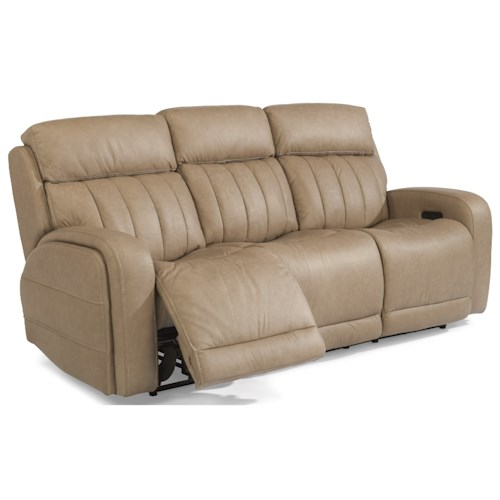 Flexsteel Latitudes-Danvers Casual Power Reclining Sofa with Power Headrests