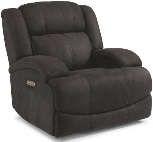 Flexsteel Latitudes-Declan Casual Power Gliding Recliner with Power Headrest and USB Port