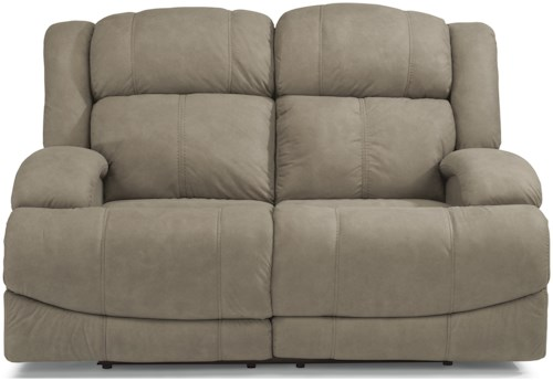 Flexsteel Latitudes-Declan Casual Power Reclining Loveseat with Power Headrests and USB Ports