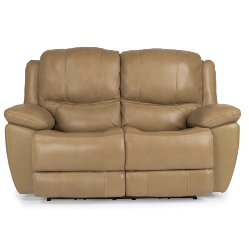 Flexsteel Latitudes-Estella Casual Power Reclining Loveseat with Padded Head and Neck Support