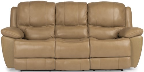 Flexsteel Latitudes-Estella Casual Power Reclining Sofa with Padded Head and Neck Support
