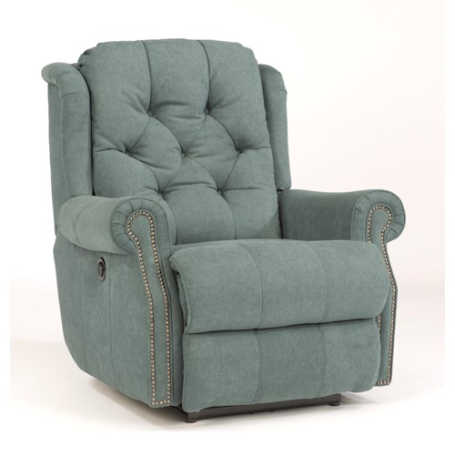 Flexsteel Latitudes-Fairfax Rocker Recliner with Tufted Back and Nailhead Trim