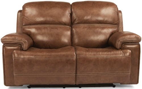 Flexsteel Latitudes-Fenwick Power Reclining Loveseat with Power Tilt Headrest and USB Port