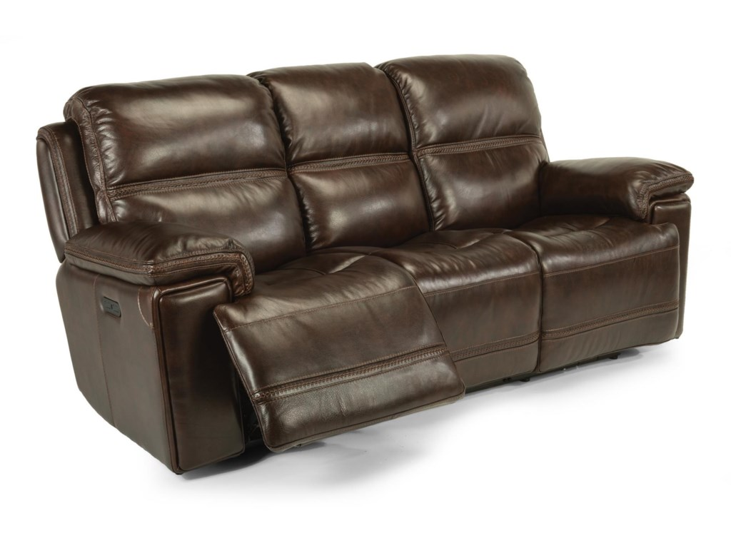Flexsteel Laudes Fenwick 1659 62ph 204 70 Leather Reclining Sofa W Headrest Great American Home Sofas