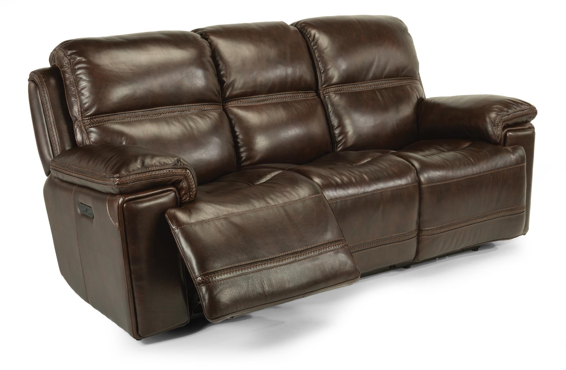 Beautiful Flexsteel Latitudes FenwickLeather Power Reclining Sofa W/ Power Headre