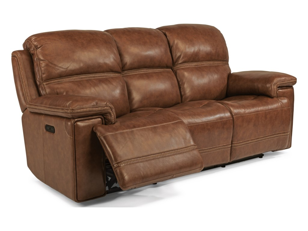 Flexsteel ReggaePower Rcl Sofa w/ Pwr Headrest