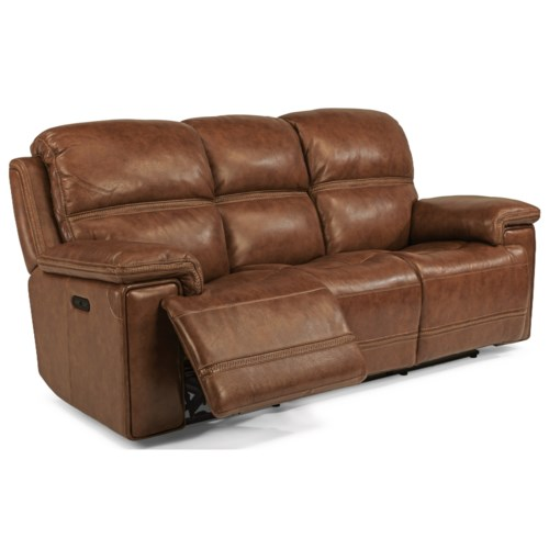 Flexsteel Latitudes-Fenwick Power Reclining Sofa With Power Tilt