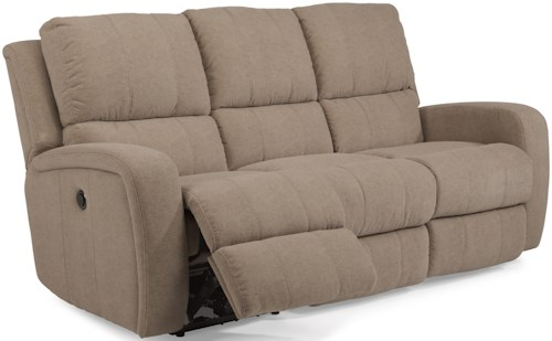 Flexsteel Latitudes-Hammond Casual Double Reclining Sofa with Power