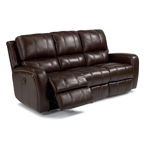 Flexsteel Latitudes-Hammond Casual Double Reclining Sofa with Power