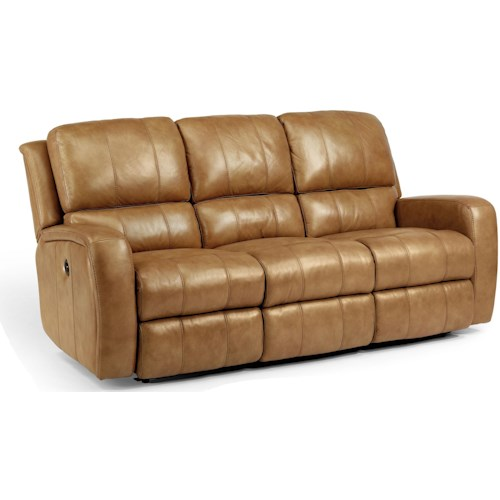 Flexsteel Laudes Hammond Casual Double Reclining Sofa With