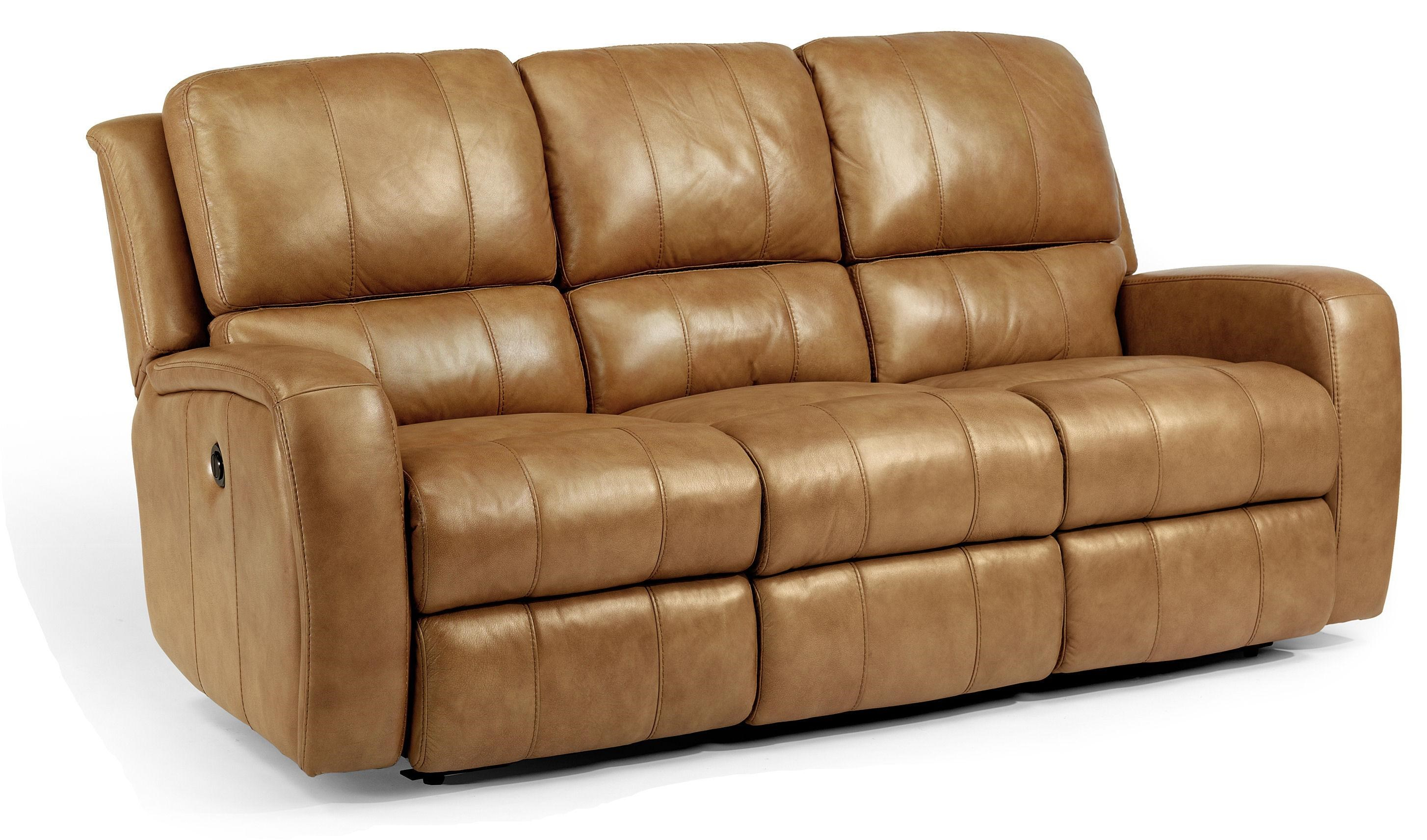 Flexsteel Latitudes Hammond Casual Double Reclining Sofa With Power