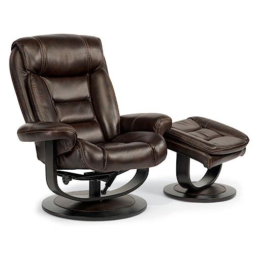 Flexsteel Latitudes-Hunter Modern Zero-Gravity Reclining Chair and Ottoman Set