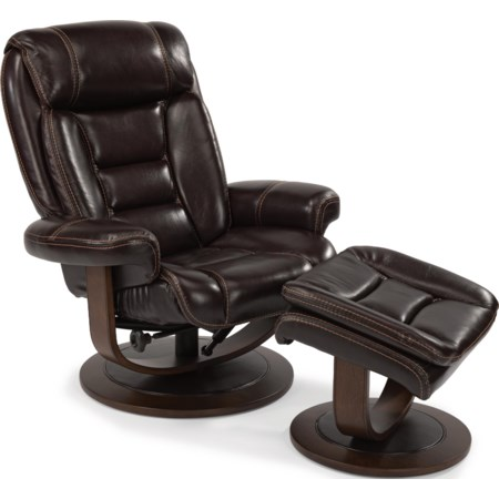 Reclining Chair and Ottoman Set