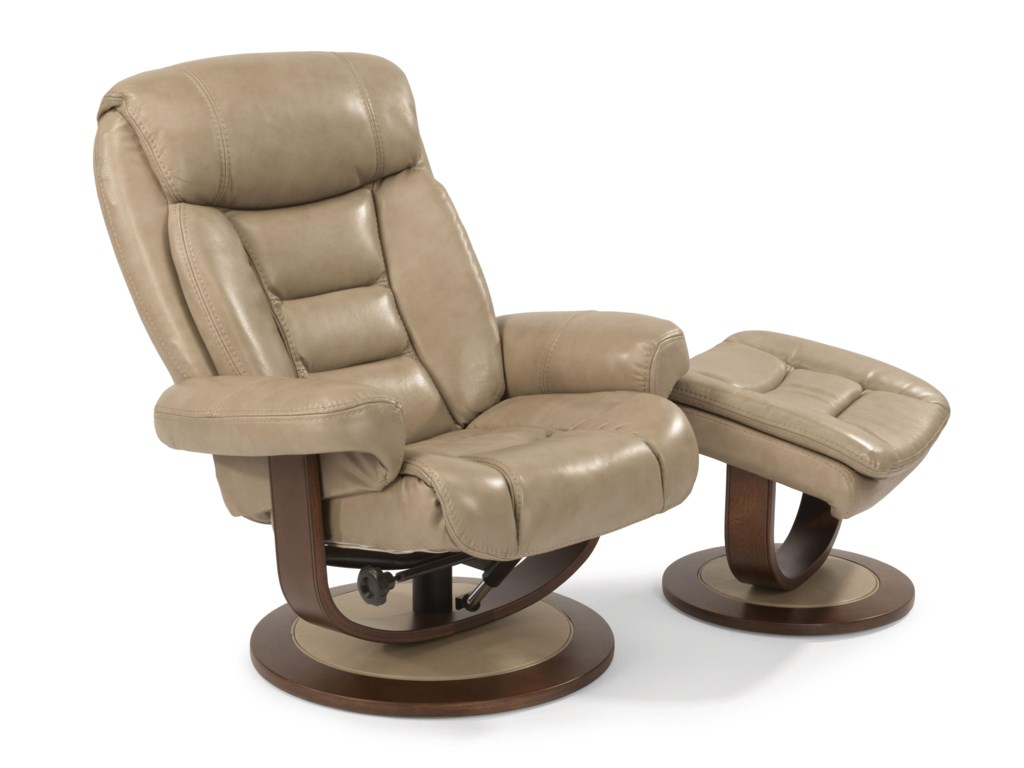 Flexsteel Latitudes-HunterReclining Chair and Ottoman Set