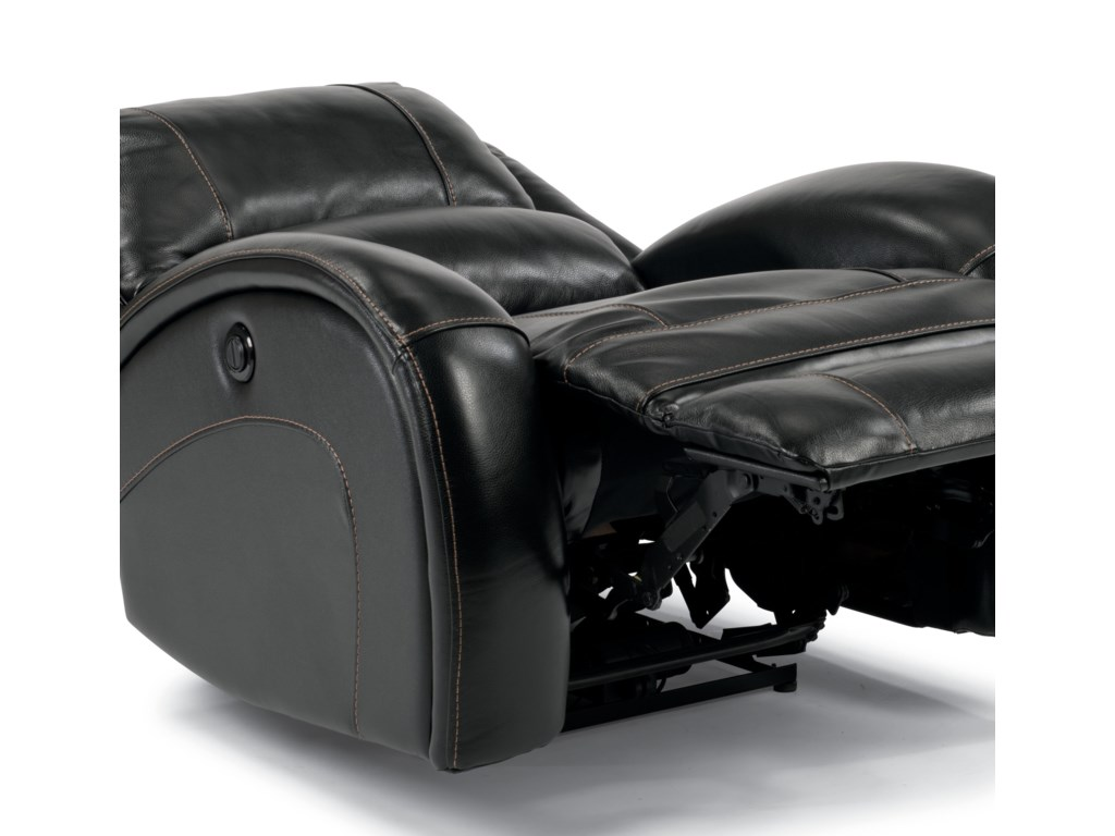 Chair Extends  All the Way Back Into Lay-Flat Position, with Infinite Positions In-Between Thanks to the Power Recline Mechanism