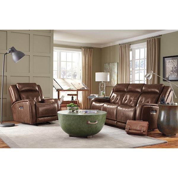 Flexsteel latitudes jude power reclining living room group