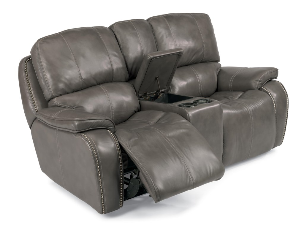 Flexsteel Latitudes-MacKayPower Reclining Loveseat with Console