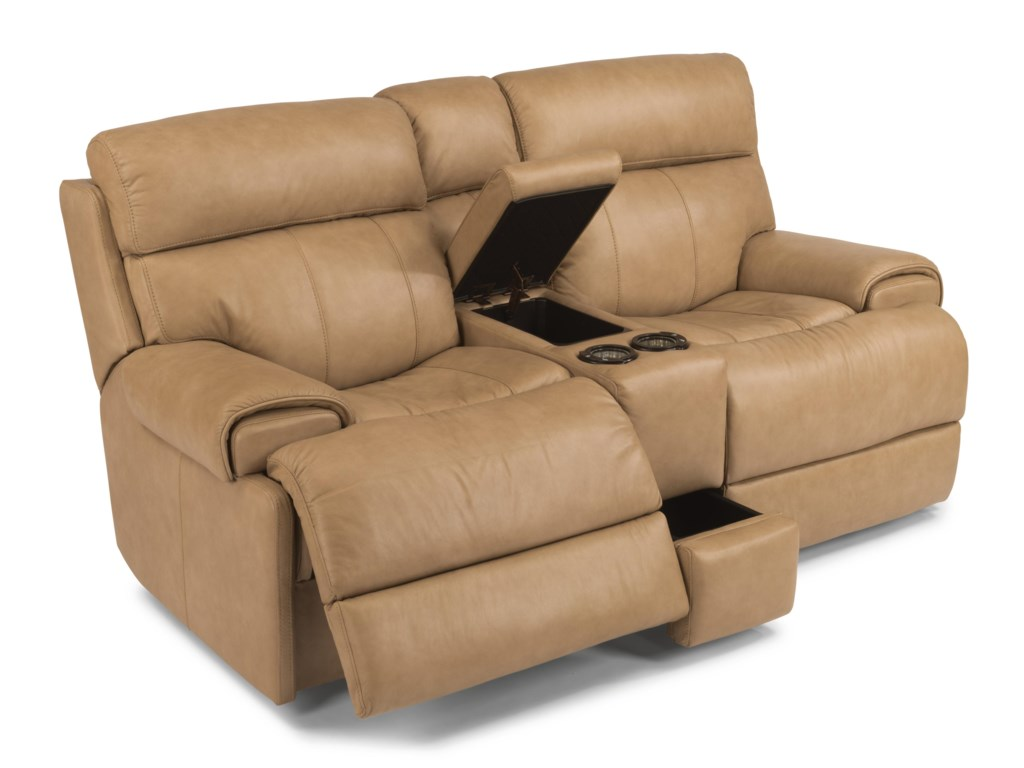 Flexsteel Latitudes-MargotPower Reclining Loveseat with Console