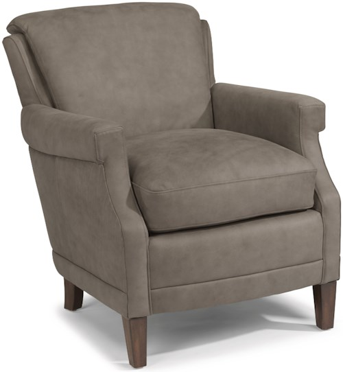 Flexsteel latitudes max contemporary leather chair with for Furniture 0 percent financing