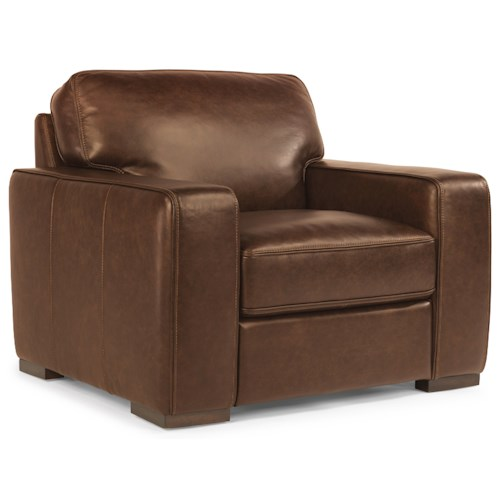 Flexsteel Latitudes-Mckinley Contemporary Leather Chair