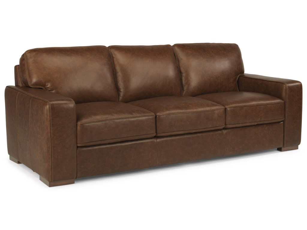 flexsteel latitudes mckinley contemporary leather sofa dunk bright furniture sofa. Interior Design Ideas. Home Design Ideas