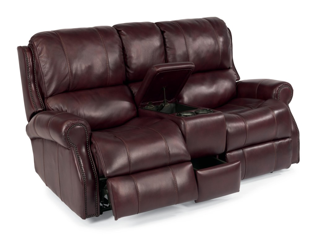Flexsteel Latitudes-MilesPower Reclining Loveseat with Console