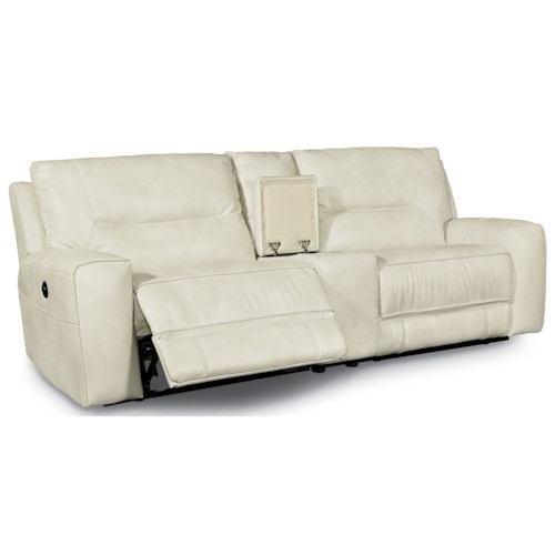 Flexsteel Latitudes-Molino Contemporary Power Reclining 2 Seat Sectional with Console